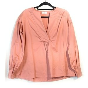 CO 100% Cotton Pink Long Sleeve Pullover